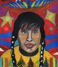 Cree Man in a Thunder Bird Dream