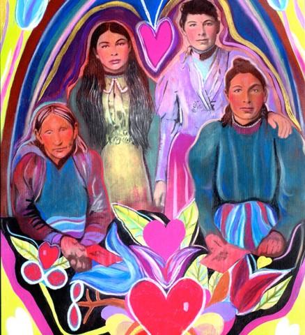 Beautiful Metis Women, Three generations, One Family