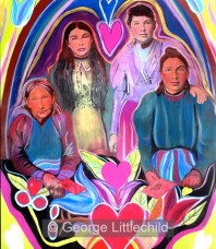 Beautiful Metis Women, Three generations, One Family
